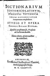 Dictionarium teutonico-latinum