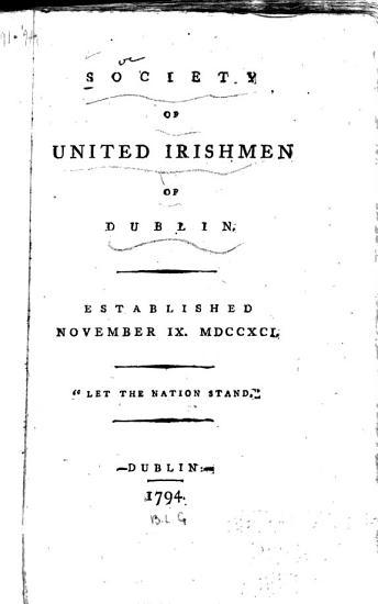 Society of United Irishmen of Dublin PDF