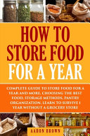 How to Store Food for a Year