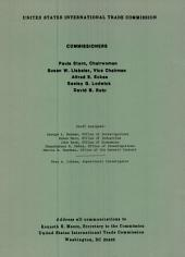 Certain valves, nozzles, and connectors of brass from Italy for use in fire protection systems: determination of the Commission in investigation no. 731-TA-165 (final) under the Tariff Act of 1930, together with the information obtained in the investigation