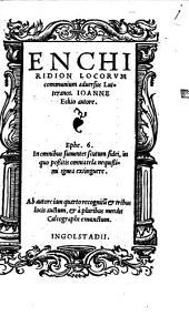 Enchiridion Locorum communium adversus Lutteranos