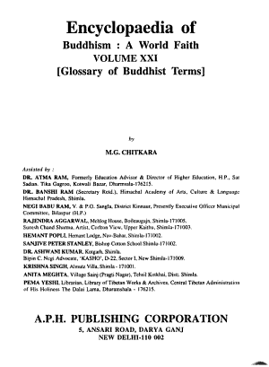 Encyclopaedia of Buddhism  Glossary of Buddhism Terms V  21  A World Faith  Glossary of Buddhism Terms V  21 PDF