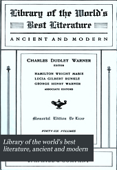 Library of the world's best literature, ancient and modern: Volume 13