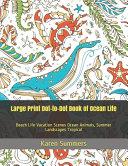 Large Print Dot to Dot Book of Ocean Life