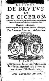Lettres de Brutus et de Cicéron
