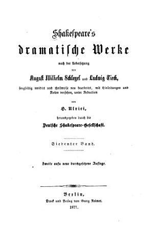 Shakespeare s dramatische Werke PDF