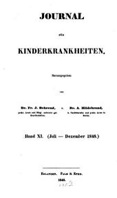 Journal für Kinderkrankheiten: Band 11