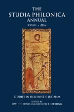 The Studia Philonica Annual XXVIII, 2016