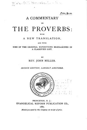 A Commentary on the Proverbs PDF