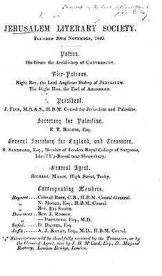 Jerusalem Literary Society  etc   Prospectus Opening Address  by J  Finn  of 20th November 1850    PDF