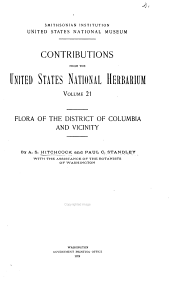 Flora of the District of Columbia and Vicinity: Volume 21