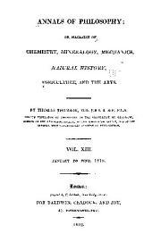 Annals of Philosophy: Volume 13