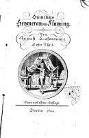 Quinctius Heymeran von Flaming  Von August Lafontaine  Erster    vierter   Theil PDF