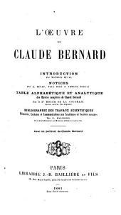 Les oeuvres de Claude Bernard: Volume19