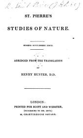 Studies of Nature, translated from the French, ... Carefully abridged, with a copious index, by L. T. Rede