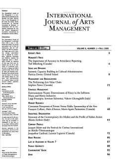 International Journal of Arts Management PDF