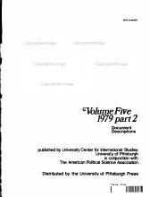 United States Political Science Documents Volume Five 1979 Part 2 PDF