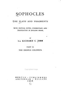 The Plays and Fragments  The Oedipus Coloneus  1889 PDF