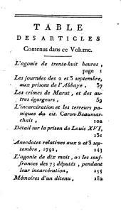 Histoire des prisons de Paris et des départemens: contenant des mémoires rares et précieux, Volume1