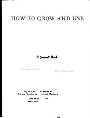 HOW TO GROW AND USE ANNUALS PDF