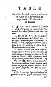 Du Renversement des libertez de l'Eglise Gallicane Dans l'affaire de la Constitution Unigenitus. Première partie [- Seconde partie]