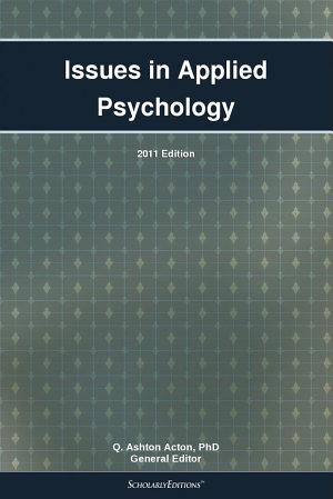Issues in Applied Psychology  2011 Edition PDF