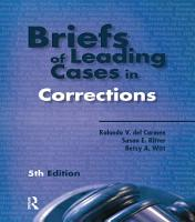 Briefs of Leading Cases in Corrections PDF