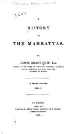 A History of the Mahrattas: Volume 1