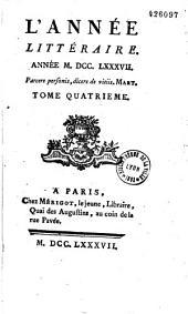 L'Année littéraire (Paris. 1754): ou Suite des lettres sur quelques écrits de ce temps