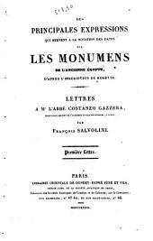 Analyse grammaticale de différens textes Anciens Egyptiens prospectus par Francois Salvolini