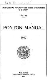 Ponton Manual. 1917