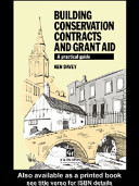 Building Conservation Contracts and Grant Aid