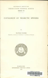 Catalogue of nearctic spiders