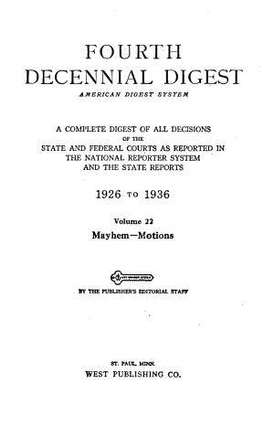 Decennial Digest  American Digest System