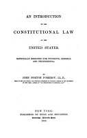 An Introduction to the Constitutional Law of the United States PDF