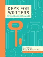 Keys for Writers with Assignment Guides  Spiral bound Version PDF