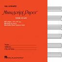 Wide Staff Manuscript Paper Red Cover