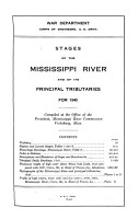 Stages of the Mississippi River and of Its Principal Tributaries PDF