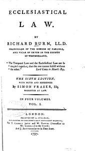 Ecclesiastical Law: Volume 1