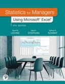 Mylab Statistics with Pearson Etext    Access Card    For Statistics for Managers Using Microsoft Excel  18 Weeks  PDF