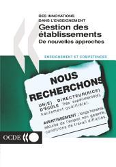 Gestion des établissements De nouvelles approches: De nouvelles approches