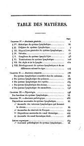 Le système lymphatique considéré sous les rapports anatomique, physiologique et pathologique