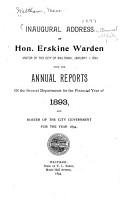Inaugural Address of     Mayor     with the Annual Reports of the Several Departments     and Roster of the City Government     PDF