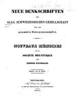 Neue Denkschriften der Schweizerischen Naturforschenden Gesellschaft     PDF