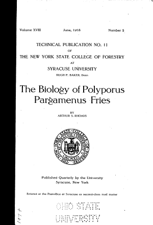 Technical Publication ... of the New York State College of Forestry at Syracuse University