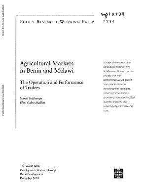 agricultural markets in benin and malawi