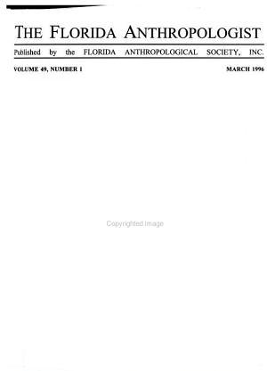 The Florida Anthropologist PDF