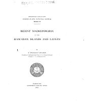 Recent Madreporaria of the Hawaiian islands and Laysan