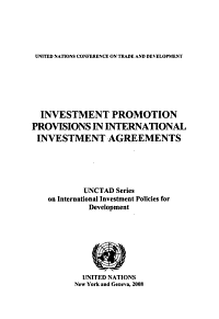 Investment Promotion Provisions in International Investment Agreements PDF