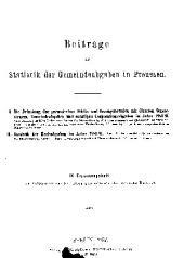 Zeitschrift des Königlich Preussischen Statistischen Landesamtes: Ergänzungsheft, Ausgaben 9-15